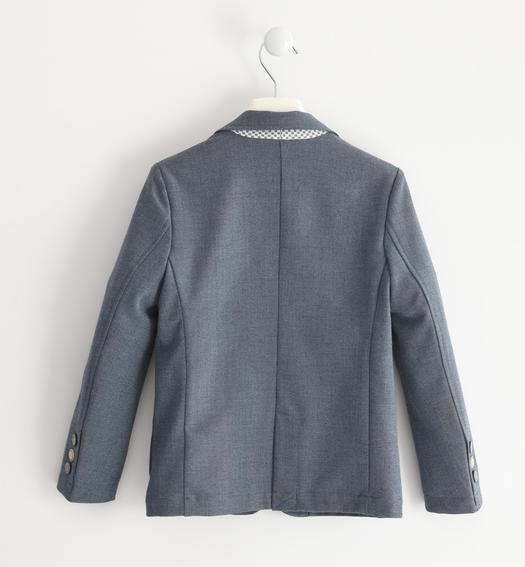Elegant jacket in particular fabric for boy from 6 to 16 years Sarabanda GRIGIO-3564