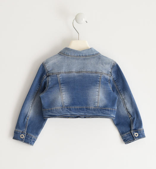 Denim jacket for baby girl from 6 months to 7 years Sarabanda STONE WASHED-7450