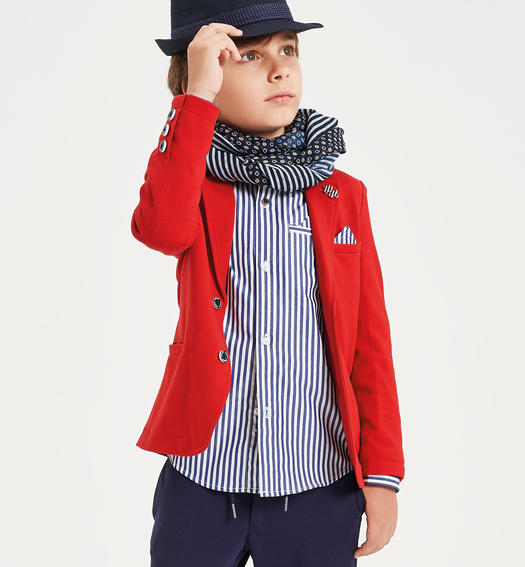 Milano stitch jacket for boy from 6 to 16 years Sarabanda ROSSO-2253