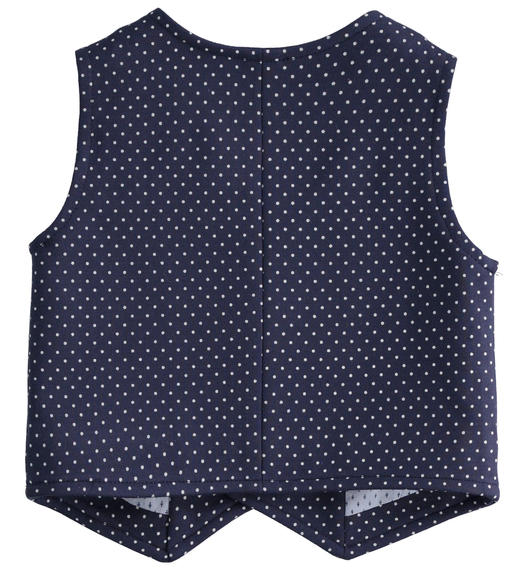 100% cotton baby vest elegant all over pattern for baby boy from 0 to 24 months Minibanda NAVY-BIANCO-6MB4
