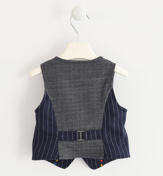 Vest with pinstriped effect for baby boys from 6 months to 7 years Sarabanda NAVY-3885