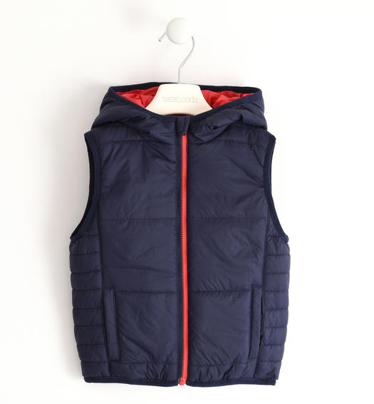 Padded nylon vest for boy from 6 months to 7 years Sarabanda NAVY-3854