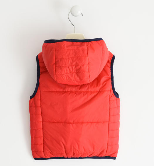 Padded nylon vest for boy from 6 months to 7 years Sarabanda ROSSO-2256