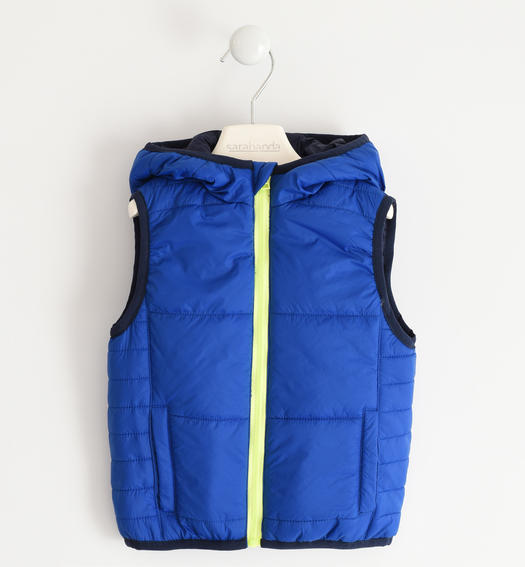 Padded nylon vest for boy from 6 months to 7 years Sarabanda ROYAL SCURO-3755