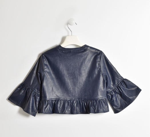 Chanel cut faux leatherjacket for girls from 6 to 16 years Sarabanda NAVY-3885