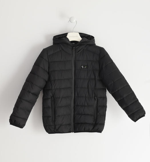 Sarabanda padded nylon jacket for boy from 6 to 16 years old NERO-0658