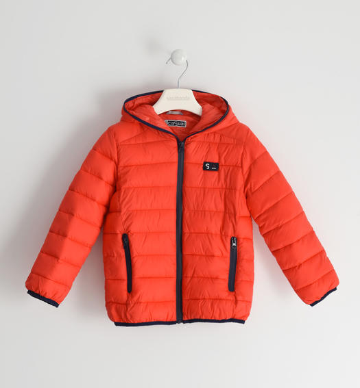 Sarabanda padded nylon jacket for boy from 6 to 16 years old ROSSO-2235