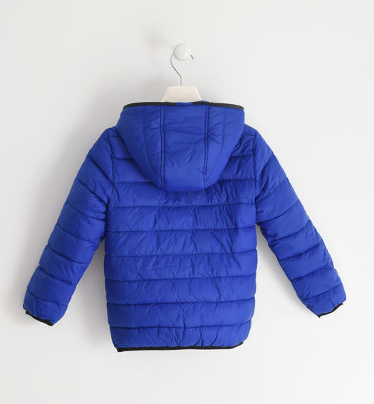 Sarabanda padded nylon jacket for boy from 6 to 16 years old ROYAL SCURO-3755