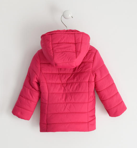 Sarabanda 100 gram nylon jacket with ruffles for girl from 6 months to 7 years FUXIA-2355