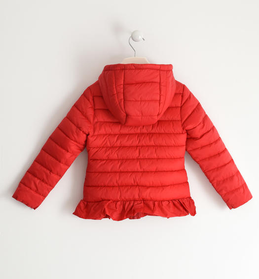 Sarabanda 100 gram nylon jacket with hood for girl from 6 to 16 years ROSSO-2256