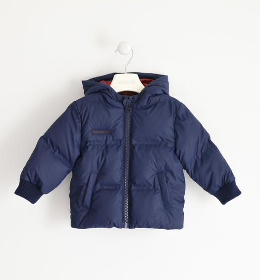 Winter jacket with heat-sealed chambers for boy from 6 months to 7 years Sarabanda NAVY-3854