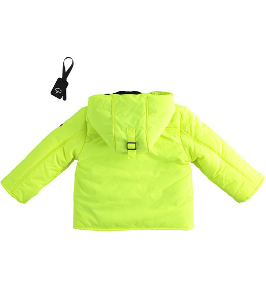 Kangaroo model jacket for boy from 6 months to 7 years Sarabanda VERDE FLUO-5834