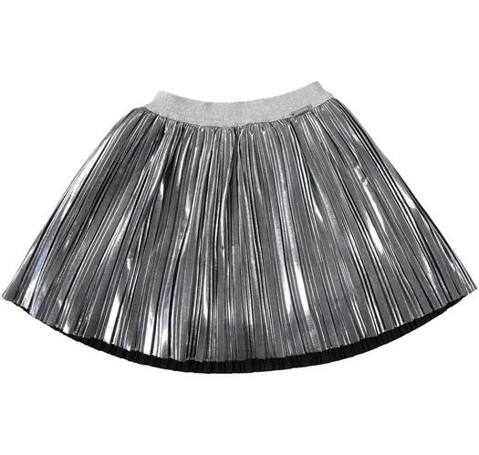 Sarabanda Silver pleated skirt for girls from 6 months to 7 years of age GRIGIO SCURO-0564