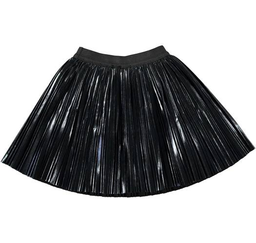 Sarabanda Silver pleated skirt for girls from 6 months to 7 years of age NERO-0658