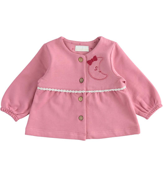 "Pretty little jacket in 100% organic cotton ""capsule bio"" for newborns from 0 to 24 months Minibanda CIPOLLA-3021"
