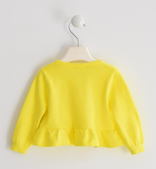 Pretty 100% cotton tricot cardigan for girl from 6 months to 7 years old Sarabanda GIALLO-1434