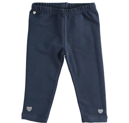 Leggings made of stretch jersey for baby girls from 6 months to 7 years Sarabanda NAVY-3885