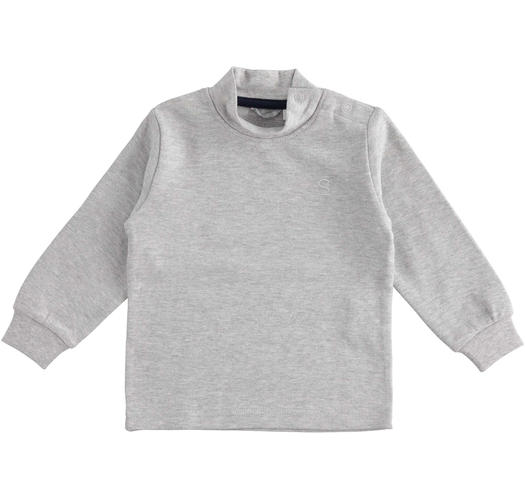 Cotton turtle neck for baby boys from 6 months to 7 years Sarabanda GRIGIO MELANGE-8992