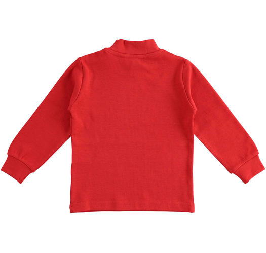 Cotton turtle neck for baby boys from 6 months to 7 years Sarabanda ROSSO-2253