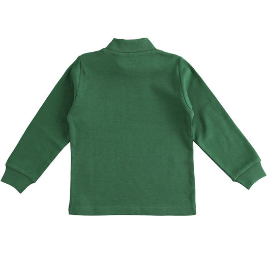 Cotton turtle neck for baby boys from 6 months to 7 years Sarabanda VERDE-4726