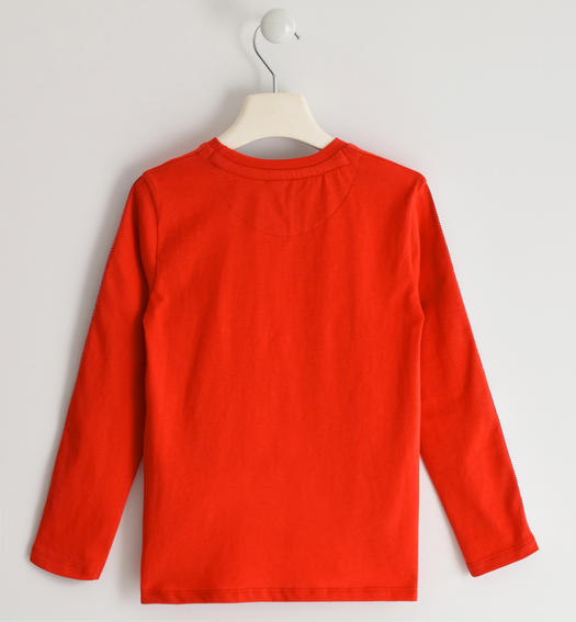 Sarabanda 100% cotton knit crewneck sweater for boy from 6 to 16 years ROSSO-2235