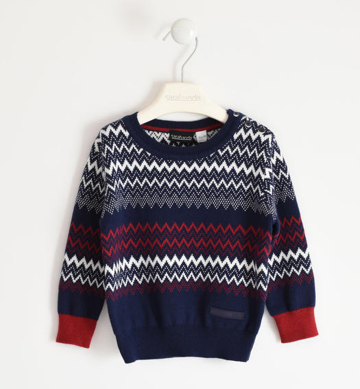 Mountain style winter tricot sweater for boy from 6 months to 7 years Sarabanda NAVY-3854