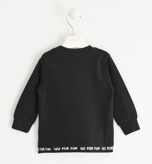 "100% cotton round neck t-shirt ""3, 2, 1, go!¿ for boy from 6 months to 7 years Sarabanda NERO-0658"