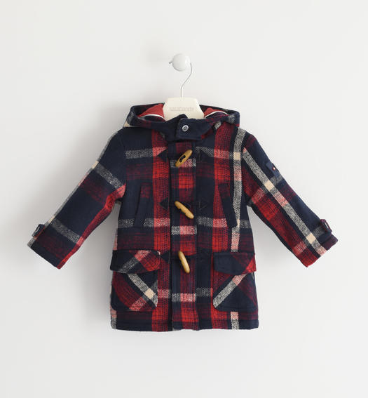 Montgomery Sarabanda with check print for baby boys from 6 months to 7 years NAVY-3885