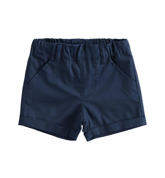 Short 100% cotton baby boy shorts for baby boy from 0 to 24 months Minibanda NAVY-3854