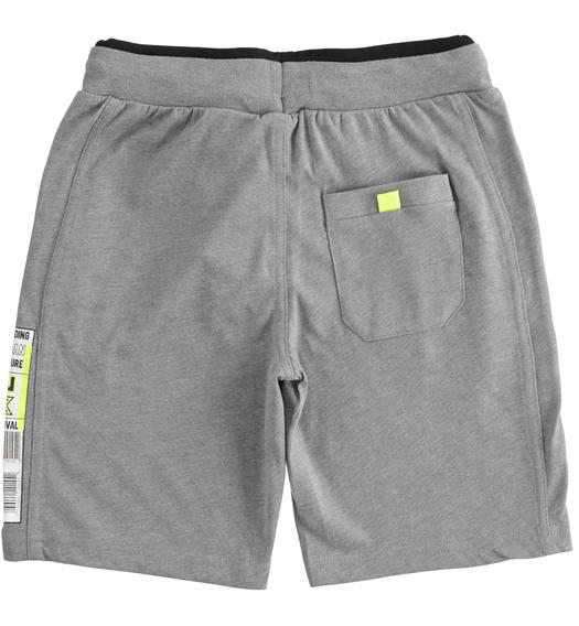Short trousers with barcode for boy from 6 to 16 years Sarabanda GRIGIO MELANGE-8967