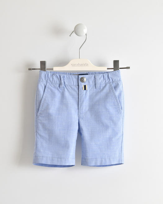 Stretch fil a fil short trousers for baby boys from 6 months to 7 years Sarabanda CELESTE-3634