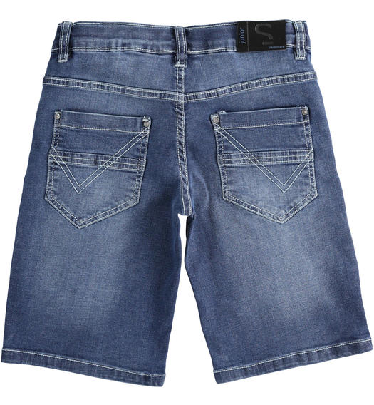 iDO denim short trousers for boy from 6 to 16 years old STONE WASHED-7450