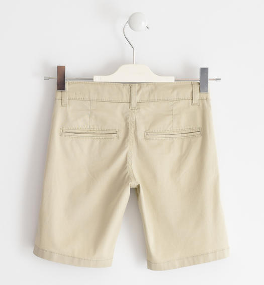 Sarabanda shorts in stretch cotton twill for boy from 6 months to 16 years BEIGE-0435