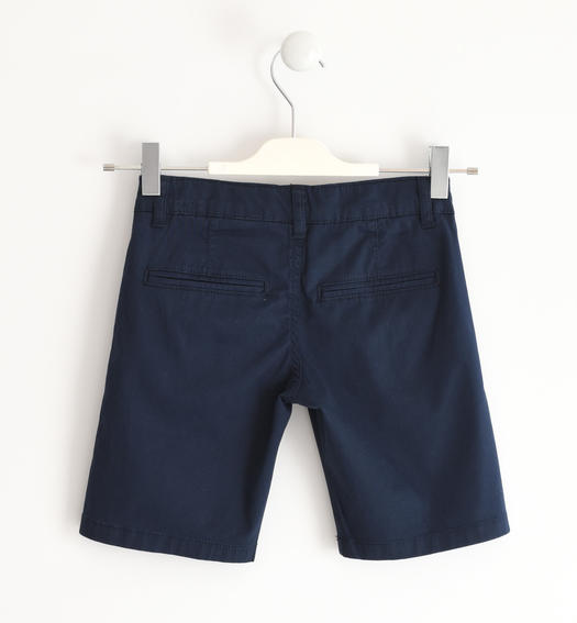 Sarabanda shorts in stretch cotton twill for boy from 6 months to 16 years NAVY-3885