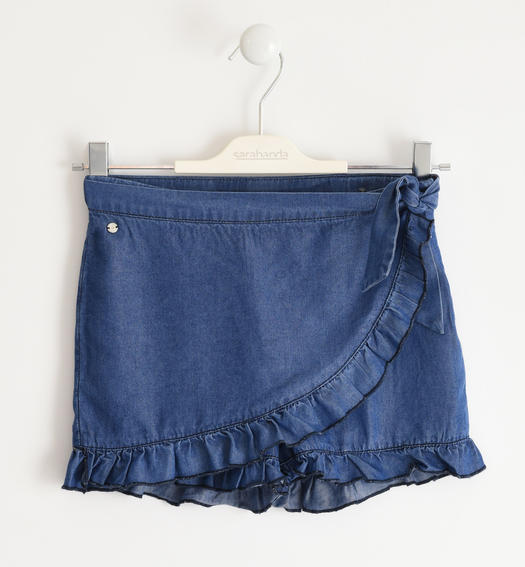 Pareo model short trousers for girl from 6 to 16 years Sarabanda STONE WASHED-7450