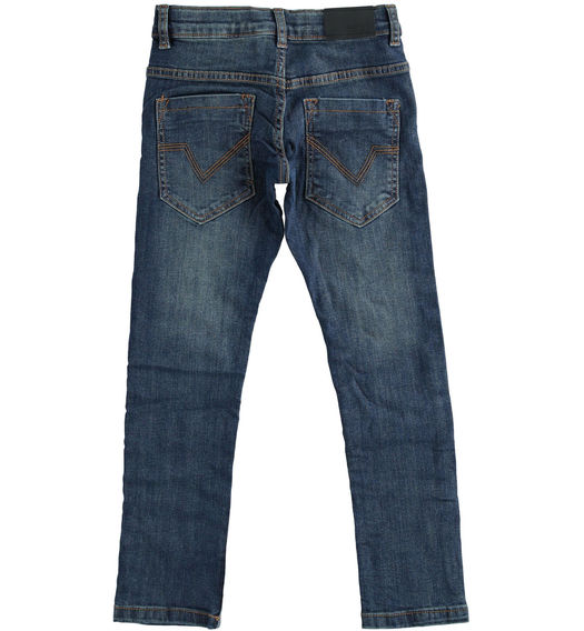 Denim trousers with tears for boy from 6 to 16 years Sarabanda BLU-7750