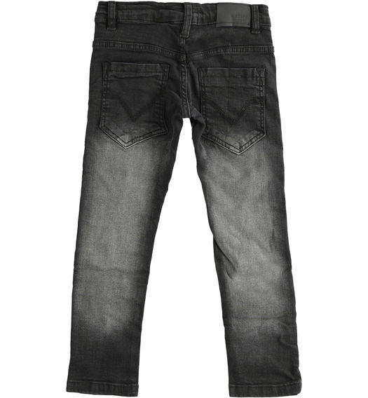Denim trousers with tears for boy from 6 to 16 years Sarabanda NERO-7990