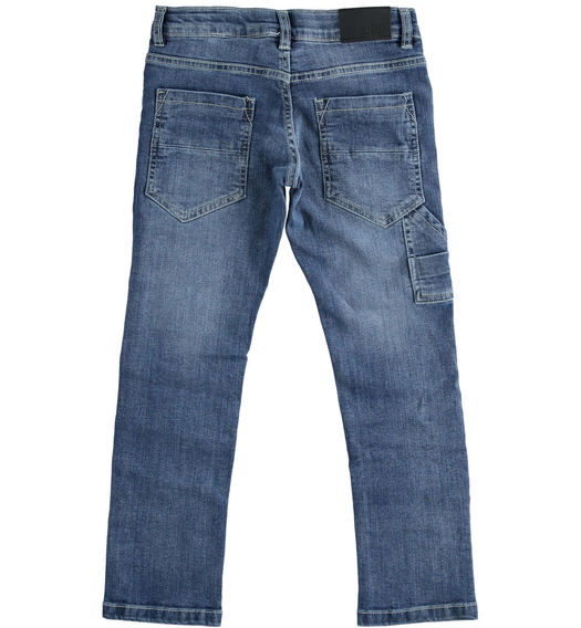 Denim trousers with horse-shaped pocket for boy from 6 to 16 years Sarabanda STONE WASHED-7450
