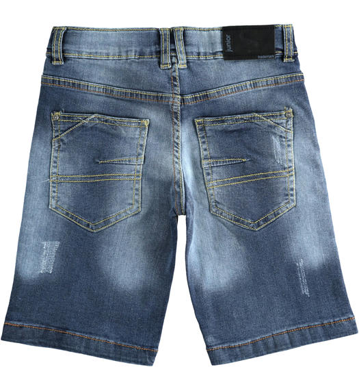 Short denim trousers for boy from 6 to 16 years Sarabanda STONE WASHED-7450