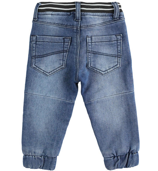 Jogger model knitted denim trousers for boy from 6 months to 7 years Sarabanda STONE WASHED-7450