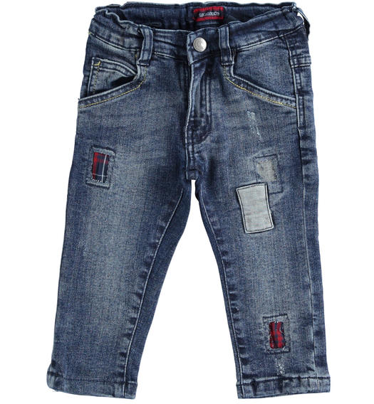 Sarabanda stretch denim trousers for baby boys from 6 months to 7 years BLU-7750