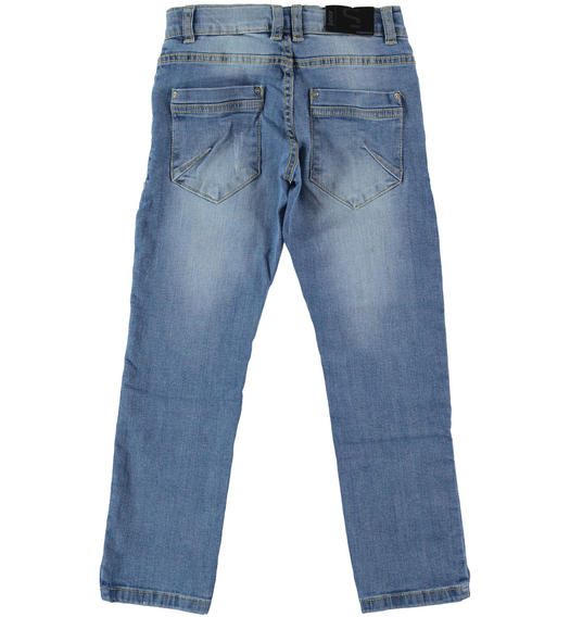 Sarabanda stretch jeans for boy from 6 to 16 years STONE BLEACH-7350