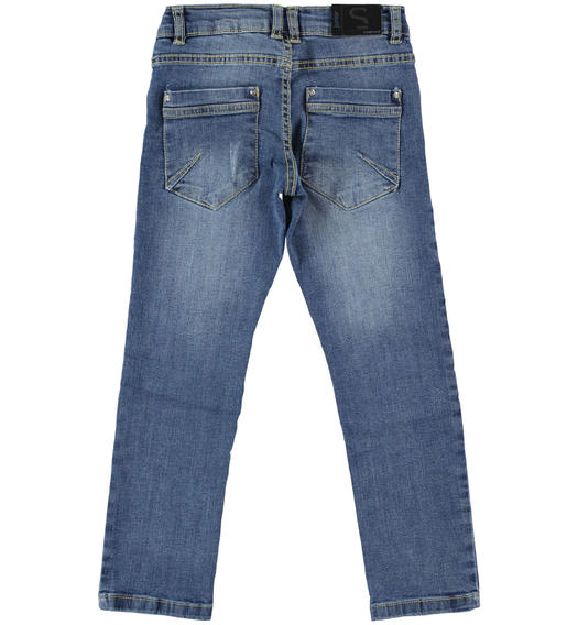 Sarabanda stretch jeans for boy from 6 to 16 years STONE WASHED-7450