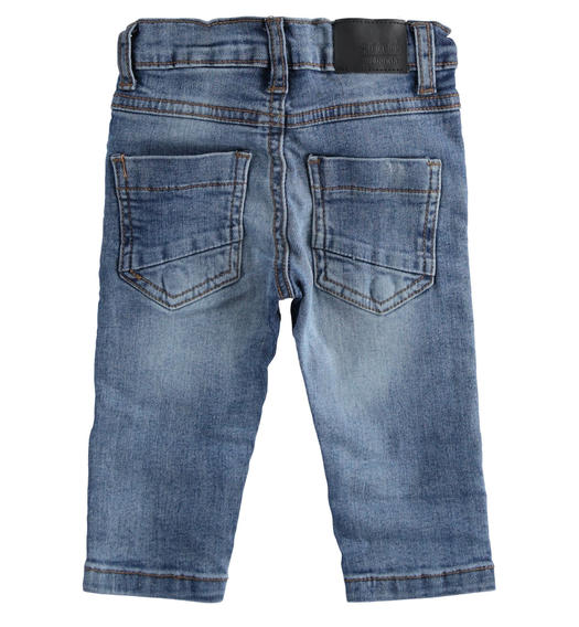 Stretch denim trousers for free time for boy from 6 months to 7 years Sarabanda STONE WASHED-7450