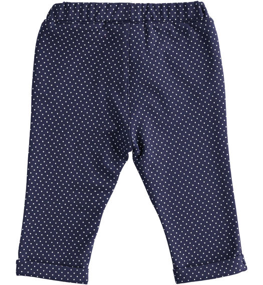 Baby boy trousers of stretch viscose blend Milano stitch for baby boy from 0 to 24 months Minibanda NAVY-BIANCO-6MB4