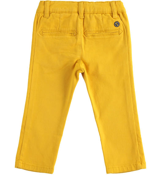 Slim-fit trousers in stretch cotton twill for baby boys from 6 months to 7 years Sarabanda OCRA-1536
