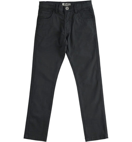 Elegant Sarabanda twill trousers for boy from 6 to 16 years NERO-0658