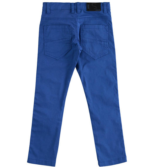 Elegant Sarabanda twill trousers for boy from 6 to 16 years ROYAL SCURO-3755