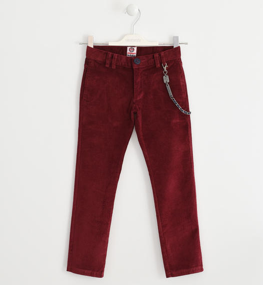Trousers made of corduroy for boys from 6 to 16 years Sarabanda BORDEAUX-2537