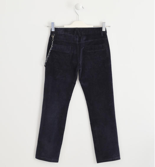 Trousers made of corduroy for boys from 6 to 16 years Sarabanda NAVY-3885